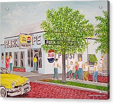 The Park Shoppe Portsmouth Ohio Acrylic Print by Frank Hunter