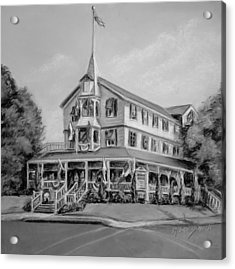 The Parker House Black And White Acrylic Print