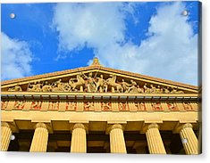 The Parthenon In Nashville Tennessee 2 Acrylic Print by Lisa Wooten