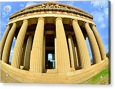 The Parthenon In Nashville Tennessee 3 Acrylic Print by Lisa Wooten