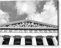 The Parthenon In Nashville Tennessee Black And White 2 Acrylic Print by Lisa Wooten