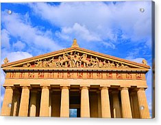 The Parthenon In Nashville Tennessee  Acrylic Print by Lisa Wooten