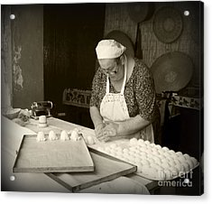 The Pastry Maker, Sardinia Acrylic Print