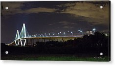 The Path Above The Ships Arthur Ravenel Jr Bridge Charleston South Carolina Acrylic Print