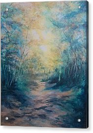 The Path Acrylic Print by Becky Chappell