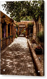 The Patio Market Acrylic Print by David Patterson