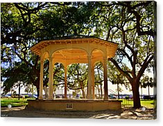The Pavilion At Battery Park Charleston Sc  Acrylic Print