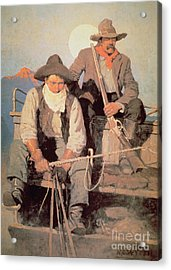 The Pay Stage Acrylic Print by Newell Convers Wyeth