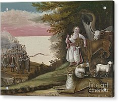 The Peaceable Kingdom, 1829-30 Acrylic Print