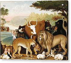 The Peaceable Kingdom Acrylic Print by Celestial Images
