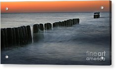 The Peaceful Sea Acrylic Print by Angel Ciesniarska