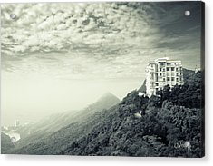 Acrylic Print featuring the photograph The Peak by Joseph Westrupp