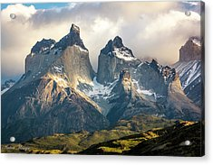 Acrylic Print featuring the photograph The Peaks At Sunrise by Andrew Matwijec