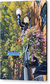 The Pearl District Acrylic Print by Karyn Robinson