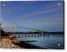 Acrylic Print featuring the photograph The Pell Bridge Newport Ri by Tom Prendergast