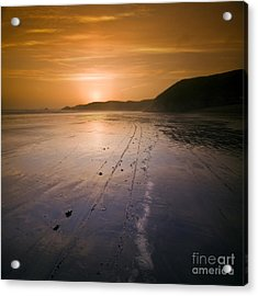 The Pembrokeshire Sunset Acrylic Print by Angel  Tarantella