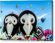 Puddles And Splash - The Penguin Hot Air Balloons Acrylic Print