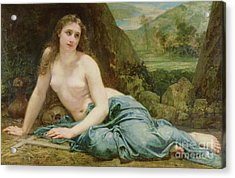 The Penitent Magdalene Acrylic Print by Paul Baudry