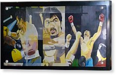 The People's Champ Acrylic Print by Lander Blanza