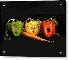 The Pepper Trio Acrylic Print by Carol Milisen