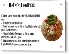 The Perfect Baked Potato Acrylic Print by Michael Ledray