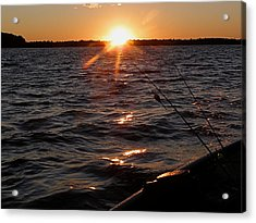 Acrylic Print featuring the photograph The Perfect Ending - After A Good Day Of Fishing by Angie Rea