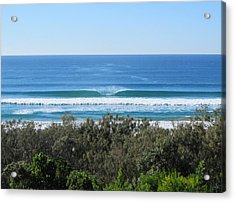 The Perfect Wave Sunrise Beach Queensland Australia Acrylic Print by Chris Hobel