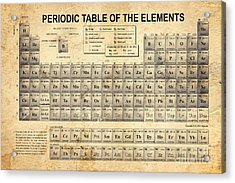 The Periodic Table Acrylic Print