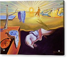 The Persistence Of Memory-amadeus Series  Acrylic Print by Dominique Amendola