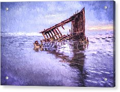 A Stormy Peter Iredale Acrylic Print