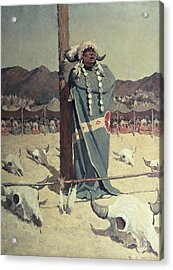 The Petition Acrylic Print by Newell Convers Wyeth