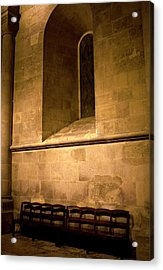 Acrylic Print featuring the photograph The Pew by Lorraine Devon Wilke