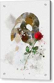 The Phantom Of The Opera Acrylic Print by Rebecca Jenkins