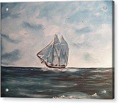 The Phantom Of The Sea Acrylic Print by Laurie Kidd