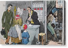 The Pharmacist And His Assistant Acrylic Print by Grandville