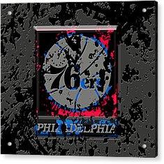 The Philadelphia 76ers 1a Acrylic Print by Brian Reaves