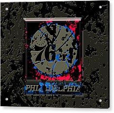 The Philadelphia 76ers 1b Acrylic Print by Brian Reaves