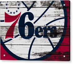 The Philadelphia 76ers 3a        Acrylic Print by Brian Reaves