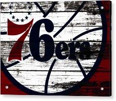 The Philadelphia 76ers 3b        Acrylic Print by Brian Reaves