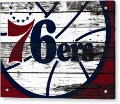 The Philadelphia 76ers 3c        Acrylic Print by Brian Reaves