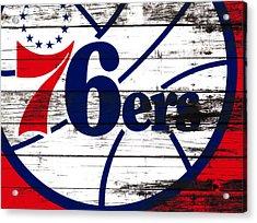 The Philadelphia 76ers 3e       Acrylic Print by Brian Reaves