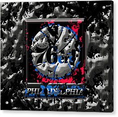 The Philadelphia 76ers Acrylic Print by Brian Reaves