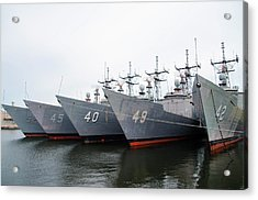 Acrylic Print featuring the photograph The Philadelphia Navy Yard by Bill Cannon