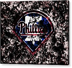 The Philadelphia Phillies Acrylic Print by Brian Reaves