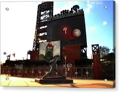 The Phillies - Steve Carlton Acrylic Print by Bill Cannon