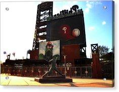 The Phillies - Steve Carlton Acrylic Print by Bill Cannon