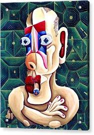 The Philosopher Acrylic Print by Tak Salmastyan