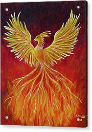 Acrylic Print featuring the painting The Phoenix by Teresa Wing