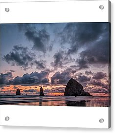 The Photogaph Was Taken Of Haystack Acrylic Print