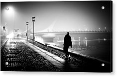 The Photographer - Dublin, Ireland - Black And White Street Photography Acrylic Print by Giuseppe Milo